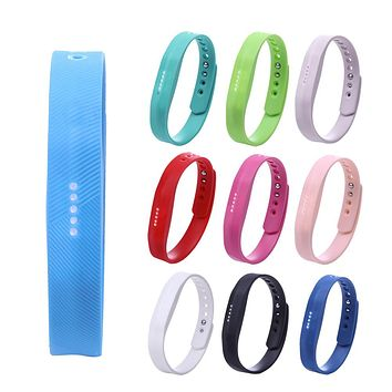 9 Colors Soft Silicone Wrist Watch band Wrist strap For Fitbit Flex 2 Smart Watch Strap watchband Wristband