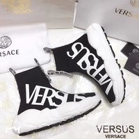 Versace Fashion Casual Socks Shoes Women Sneakers Sport Shoes