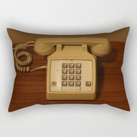 Vintage Retro Telephone Rectangular Pillow by Christine Aka Stine1