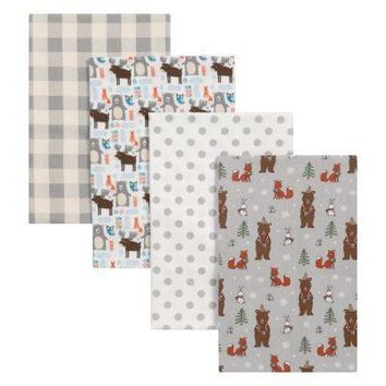 Scandi Cocoa 4 Pack Flannel Blankets