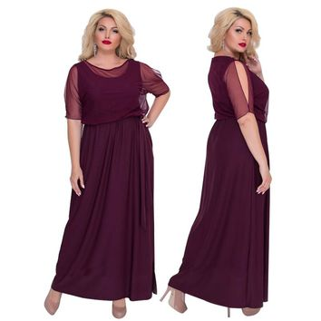 2018 5XL 6XL Women Party Dress Plus Size Women Clothing Summer Beach Dress Mesh Maxi Dress Big Size Long Dress Vestidos Longos