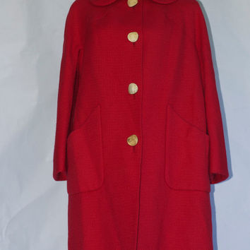 "Vintage 1950's Traina-Norell Wool ""Subway"" Coat."