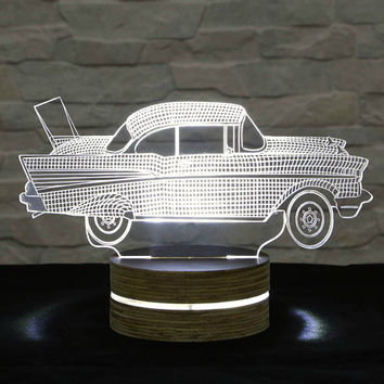 3D LED Lamp, Car Shape, Decorative Lamp, Home Decor, Table Lamp, Office Decor, Plexiglass Art, Art Deco Lamp, Acrylic Night Light
