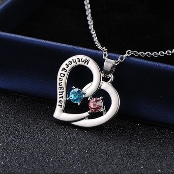 New Product Love Bring Drill Necklace Pendeloque Cut Mother's Day Gift Mom Ornaments TIF579 shoul colar jewelry choker anime