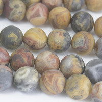matte crazy lace agate beads -  mm -15inch