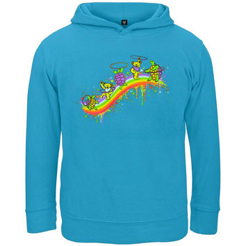 Grateful Dead - Rainbow Hoopers Turquoise Toddler Hoodie