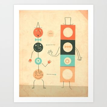 Perfect Strangers Art Print by Jazzberry Blue