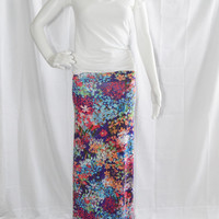 Floral Maxi Skirt/ Long A Line Skirt/ Casual Maxi/ Custom Maxi Skirt/ Boho Clothing