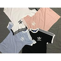 Adidas Women Men Casual Sport Running Tunic Shirt Top Blouse