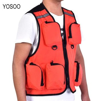 YOSOO Fishing Life Vest Multifunction Multiple Pocket Waistcoat Outdoor Fishing Jacket Hiking Hunting Photography Utility Vest