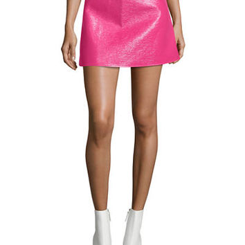 Courreges Coated Vinyl Mini Skirt