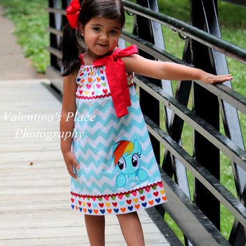 New and Exclusive Design from My little pony Rainbow Dash inspired pillowcase dress