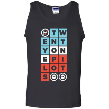 21 Pilot - Twenty one Tshirt Pilot Lover (26) G220 Gildan 100% Cotton Tank Top