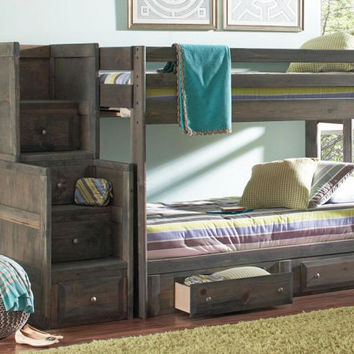 Carmichael Twin over Twin Stairway Bunk Bed
