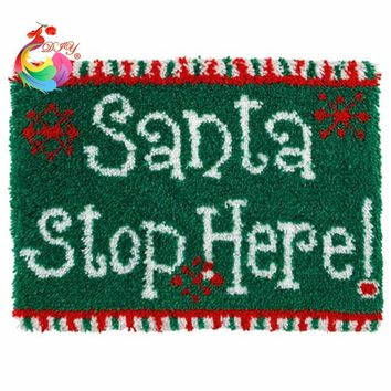 New Year decoration Sewing thread  Baby carpet  carpet kids embroidery kits  carpets and rugs   Latch hook rug kits