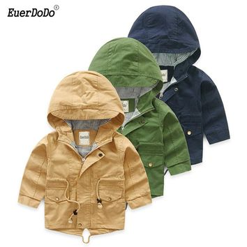 Autumn Spring Jackets For Boys Solid Children Coat Kids Hoody Baby Outerwear Toddler Windbreaker Poncho