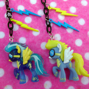 My Little Pony Wonderbolts Lightning Necklace by hobbittownjewelry
