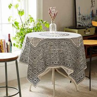 Magical Thinking Rangoli Tablecloth- Black & White One