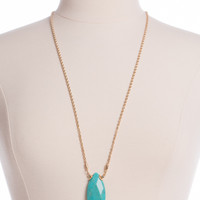 Stone Strong Necklace, Turquoise