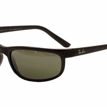 Ray Ban Men's Predator 2 RB2027 601/W1 Black RayBan Polarized Sunglasses 62mm