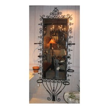 Pair of Cast Iron Decorative Wall Mirrors
