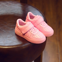 Casual Comfort Hot Sale Hot Deal On Sale Children Stylish White Shoes Korean Soft Velcro Sneakers [4919268036]
