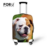 English France Bulldog Pug Men Women Travel Luggage Protective Elastic Covers Stretch Bags for Suitcase Cover To 18''-30'' Case