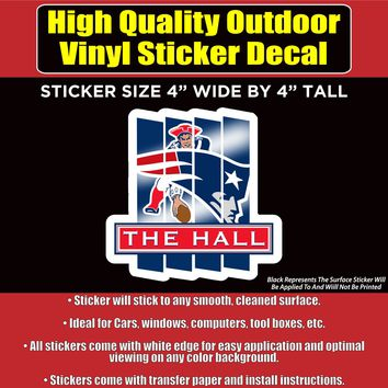 The Hall New England Patriots Vinyl Bumper Car Window Laptop Decal Sticker