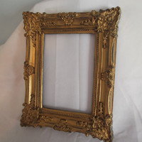 Picture Frame, Open Frame, Gold Frame, Distressed Gold Frame, Shabby Gold Frame, Shabby Frame, ornate Gold Frame, Boho Frame Bohemian Frame