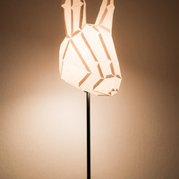 Rabbit Medium - do it yourself paper lampshade