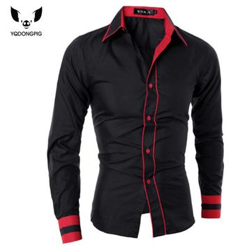 Men Shirt Fashion Brand Men'S Cuff