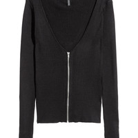 Cardigan with Zip - from H&M