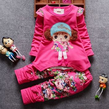 New 2016Spring Autumn baby girls christmas outfits Sport suit cl 88cc17e49