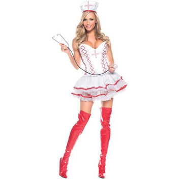Women's Costume: Sexy Home Care Nurse | Medium/Large