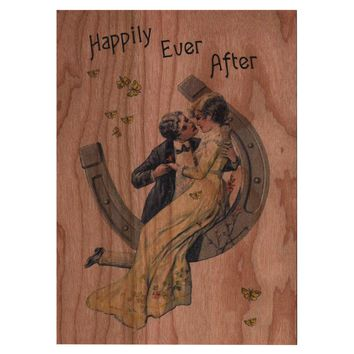 Wood Folding Card Happily Ever After