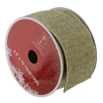 "Pack of 12 Solid Silver Wired Christmas Craft Ribbon Spools 2.5"" x 120 Yards Total"