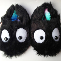Fuzzy Soot Sprite Slippers, Baby and Women's Shoe Sizes