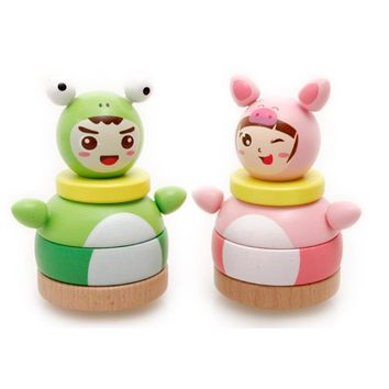 Children Educational Wooden Puzzle Nesting Doll Titres Toys