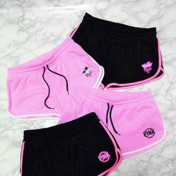 Fashion Online Victoria's Secret Pink Summer Solid Color Shorts