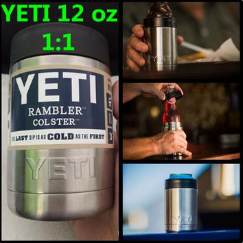 12 oz Yeti Vacuum Insulated Rambler Colster Insulated Cup Mug Drink Holder Insulated Koozie 304 Stainless Steel