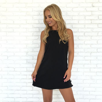 Cross My Heart Dress In Black