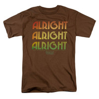 Dazed And Confused Men's  Alright Z T-shirt Coffee Rockabilia