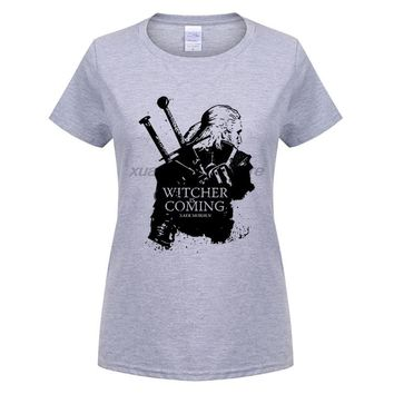 GILDAN  Original Design The Witcher  Assassins of Kings Print Fashion Style Casual T-shirt T shirt TEE