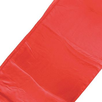 Satin Fabric Table Runner, Red, 14-Inch x 108-Inch