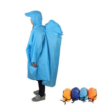 ackpack Cover One-piece Raincoat Poncho Rain Cape Outdoor Hiking Camping Raincoat Jackets Unisex
