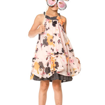 Deux Par Deux Miss Butterfly Printed Dress Size 2-12 Years