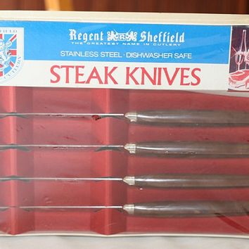 Vintage Regent Sheffield Steak Knives