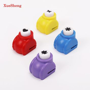 2PCS Kid Child Mini Printing Paper Hand Puncher Scrapbook Tags Cards Craft DIY Punch Cutter Tool 6 Styles Hole Punch