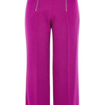 Double Zip Crop Wide Leg Trousers | Topshop