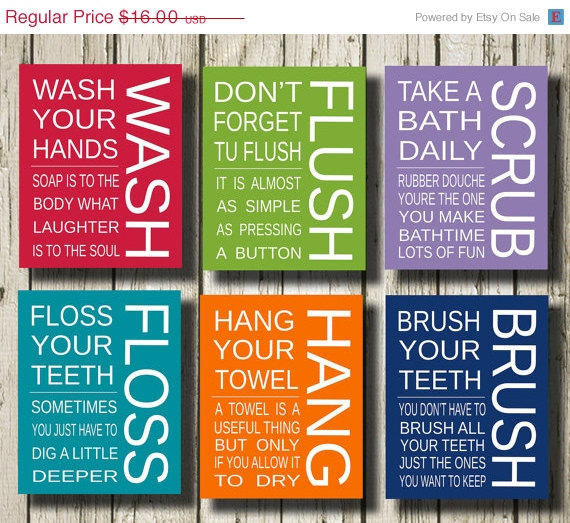 ON SALE 50 % Wash Flush Scrub Floss Hang From DigitNow On Etsy